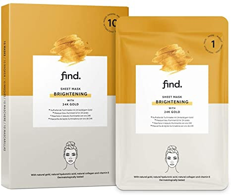 find. Sheet Mask Brightening with 24K Gold