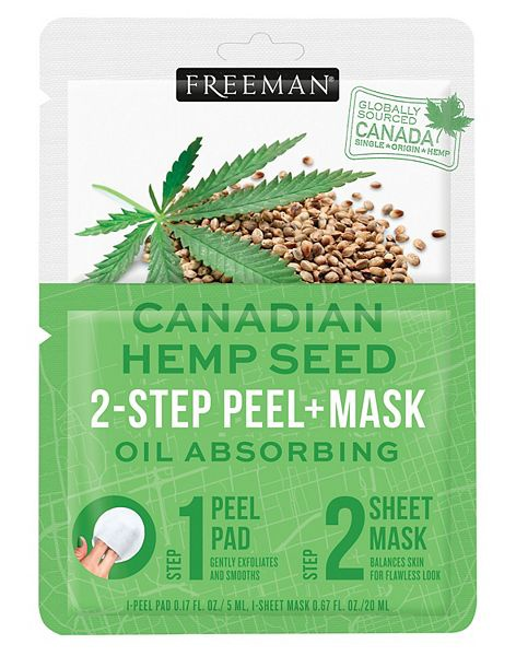 Freeman beauty Hemp Seed 2-Step Peel+Mask