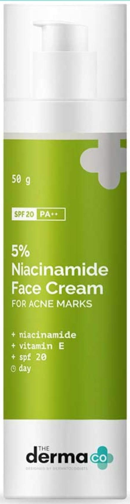 The derma CO Niacinamide Cream SPF 20 Pa ++