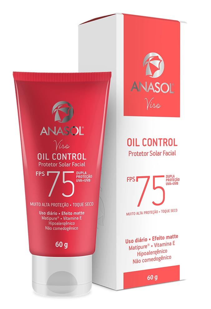 Anasol Protetor Solar Facial Oil Control Fps 75