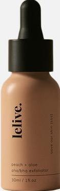 Lelive Save Our Skin (SOS)   Peach + Aloe AHA/BHA Exfoliator.