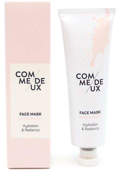 Comme Deux Pink Paint Face Mask