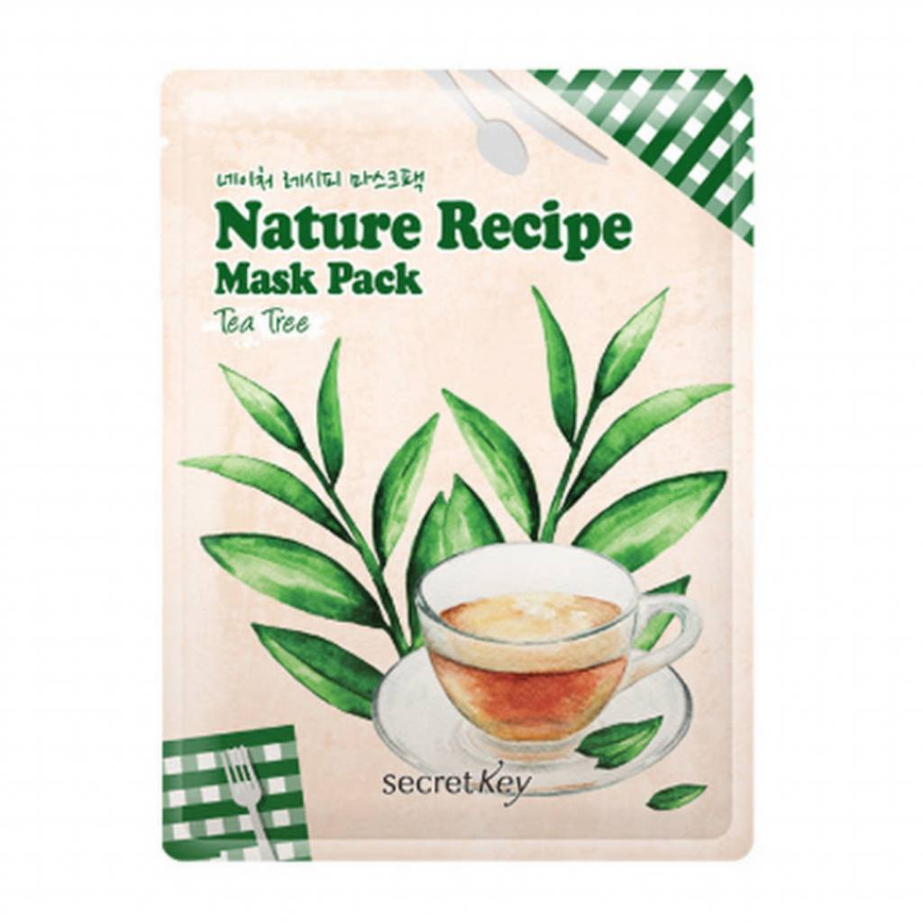 Secret Key Nature Recipe Mask Pack (Tea Tree)