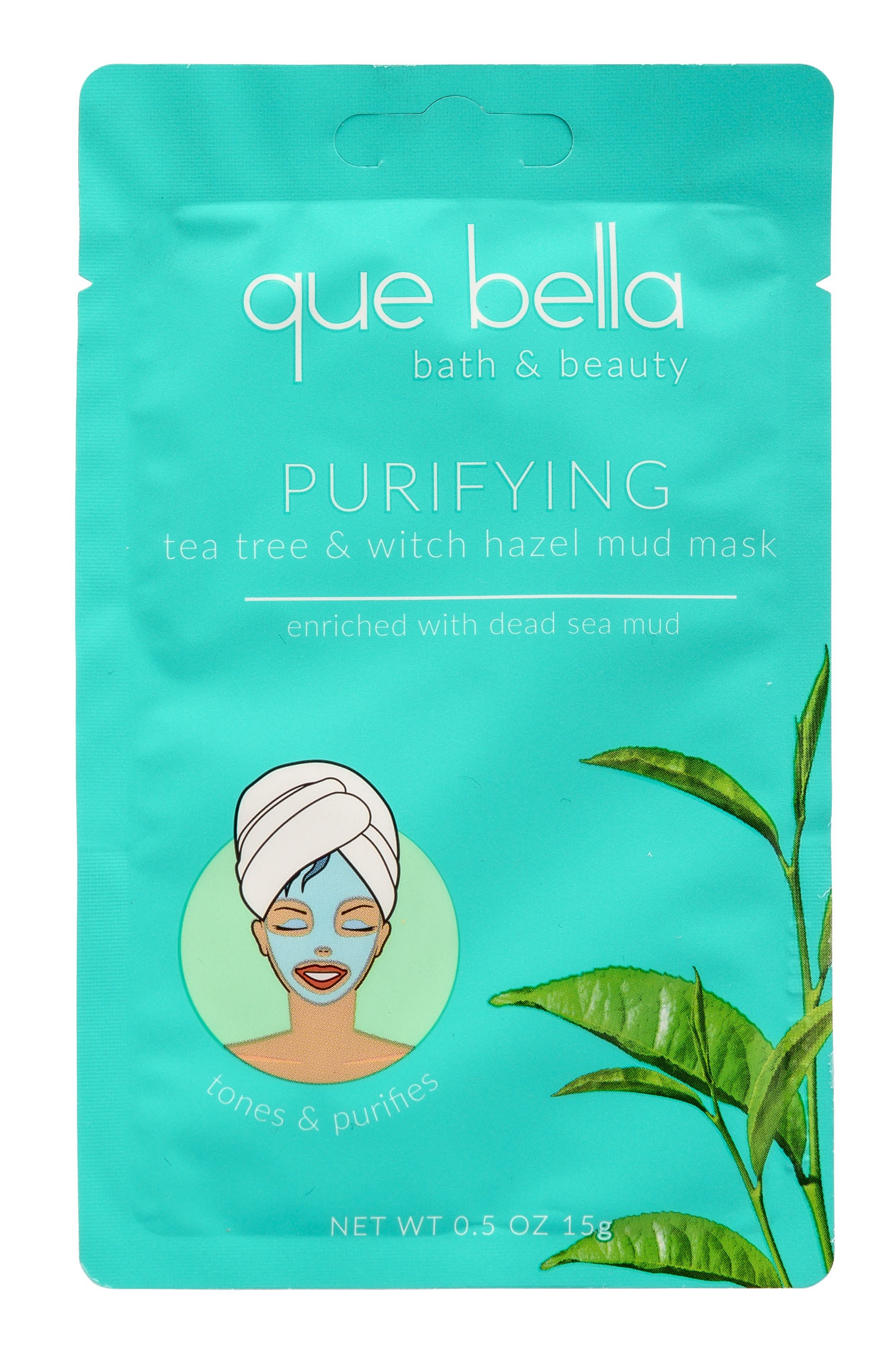 que bella Purifying tea tree & witch hazel mud mask