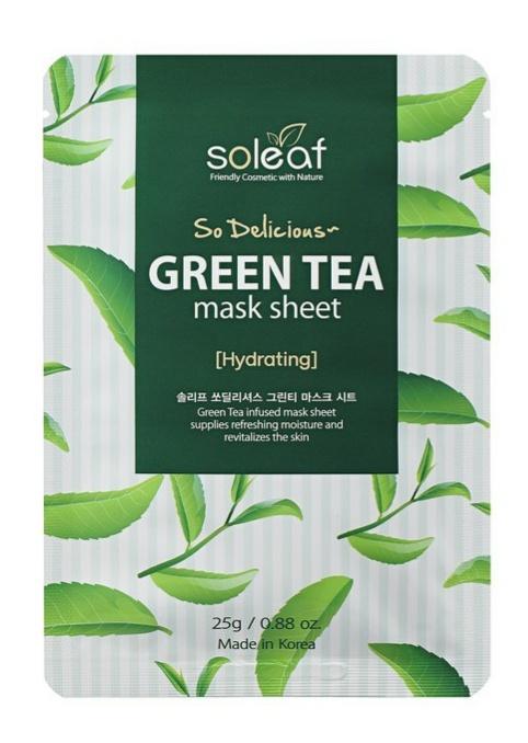 soleaf So Delicious Green Tea Mask Sheet [Hydrating]