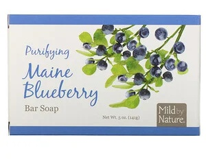 Mild By Nature Purifying Bar Soap, Maine Blueberry