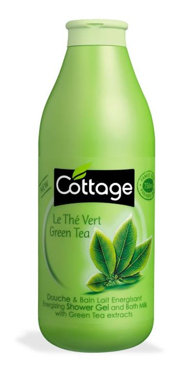 Cottage Shower Gel And Bath Milk Green Tea