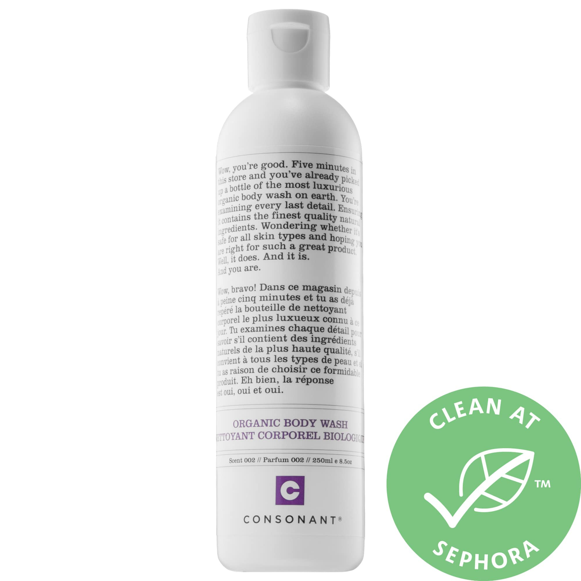Consonant Organic Body Wash Peppermint & White Sage