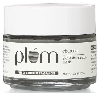 PLUM Charcoal 2-In-1 Detox Scrub Face Mask
