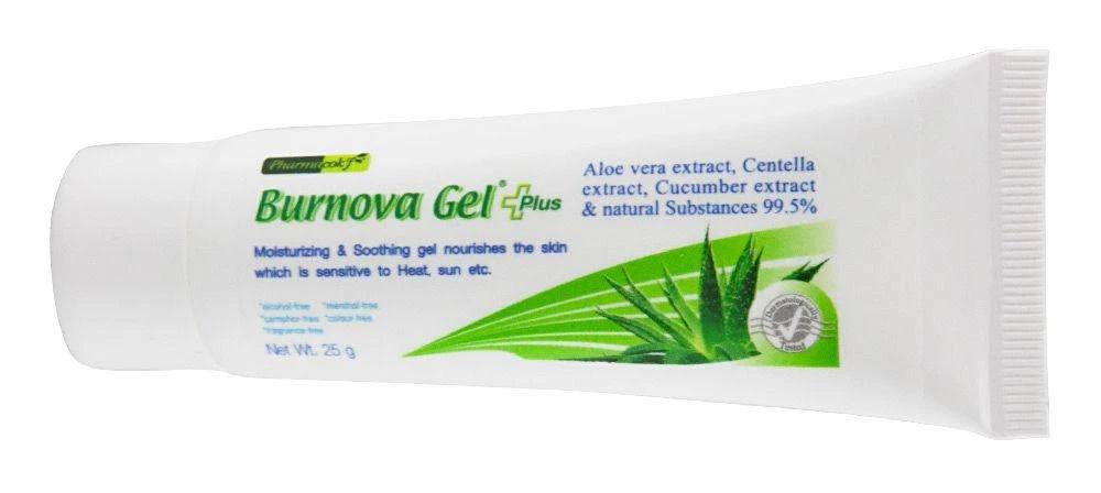 Burnova Gel Plus Aloe Vera Extract, Cucumber Extract & Natural Substances