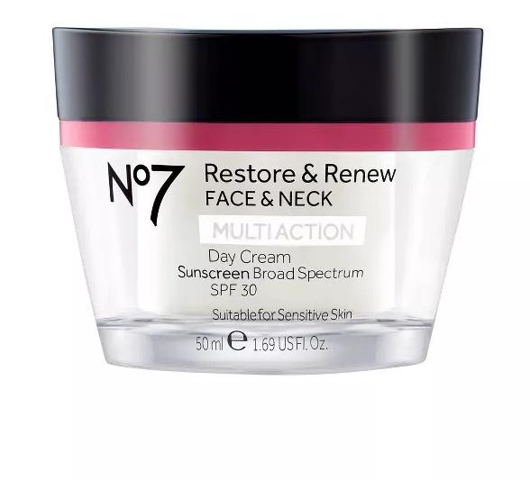 No7 Restore & Renew Face & Neck Multi Action Day Cream Spf 30