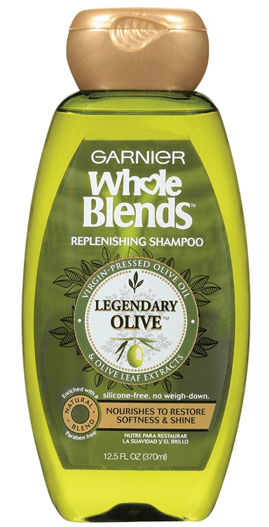 Garnier Whole Blends Replenishing Shampoo With Virgin-Pressed Olive Oil & Olive Leaf Extracts