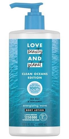 LOVE BEAUTY & PLANET Sea Salt & Bergamot Energizing Wave Body Lotion