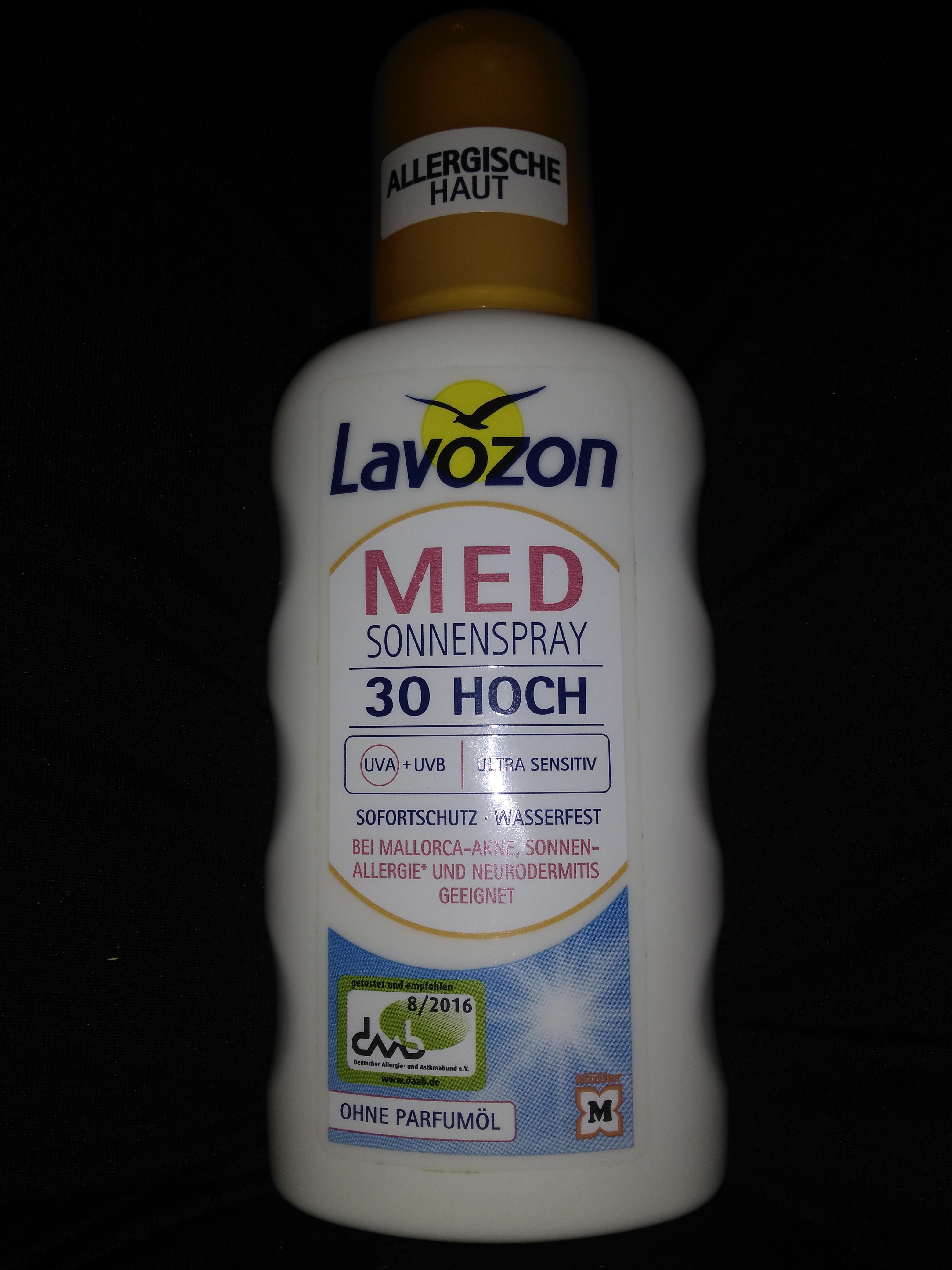 Lavozon Med Sonnenspray 30 Ultrasensitive