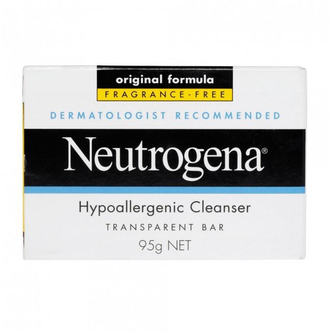 Neutrogena Hypoallergenic Cleanser Transparent Bar