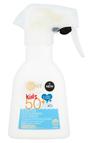 Solait Sensitive Kids Moisturising Sun Spray Spf50+