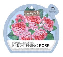 Healing Bird Brightening Rose Botanical Face Mask