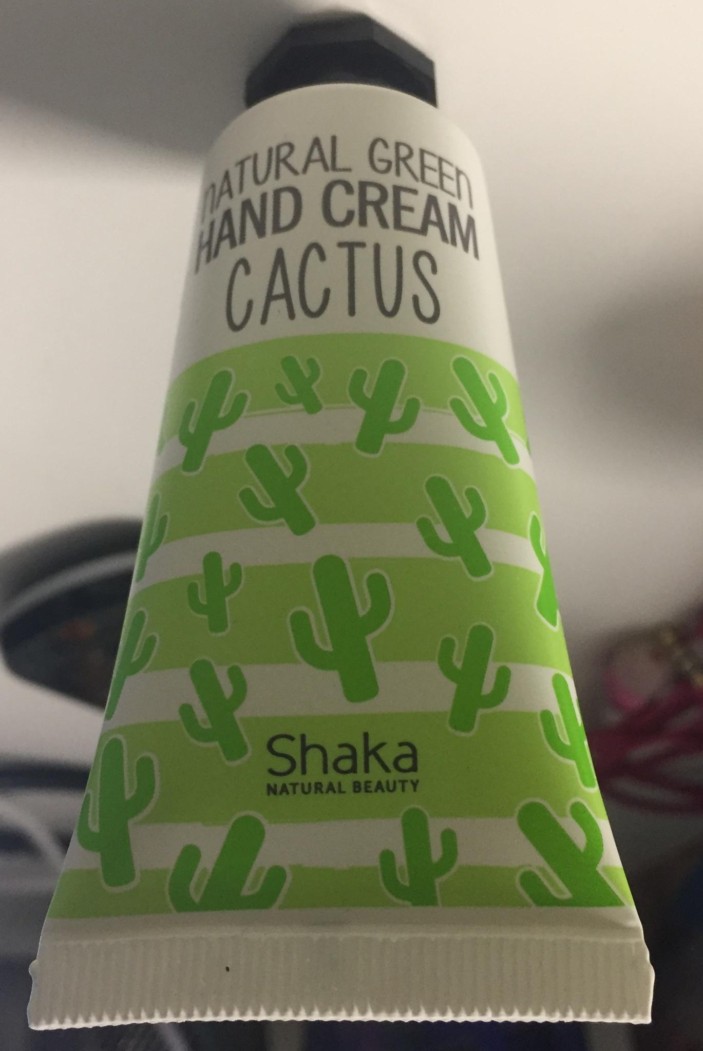 Shaka Natural Green Hand Cream (Cactus)