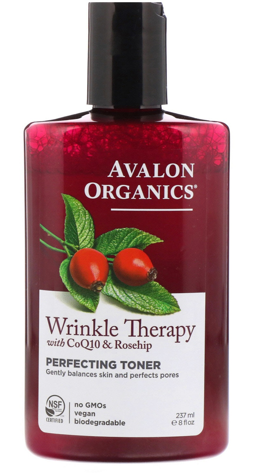 Avalon Organics Wrinkle Therapy, With Coq10 & Rosehip, Perfecting Toner