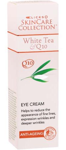 Clicks skincare collection White Tea And Q10 Anti-aging Eye Cream