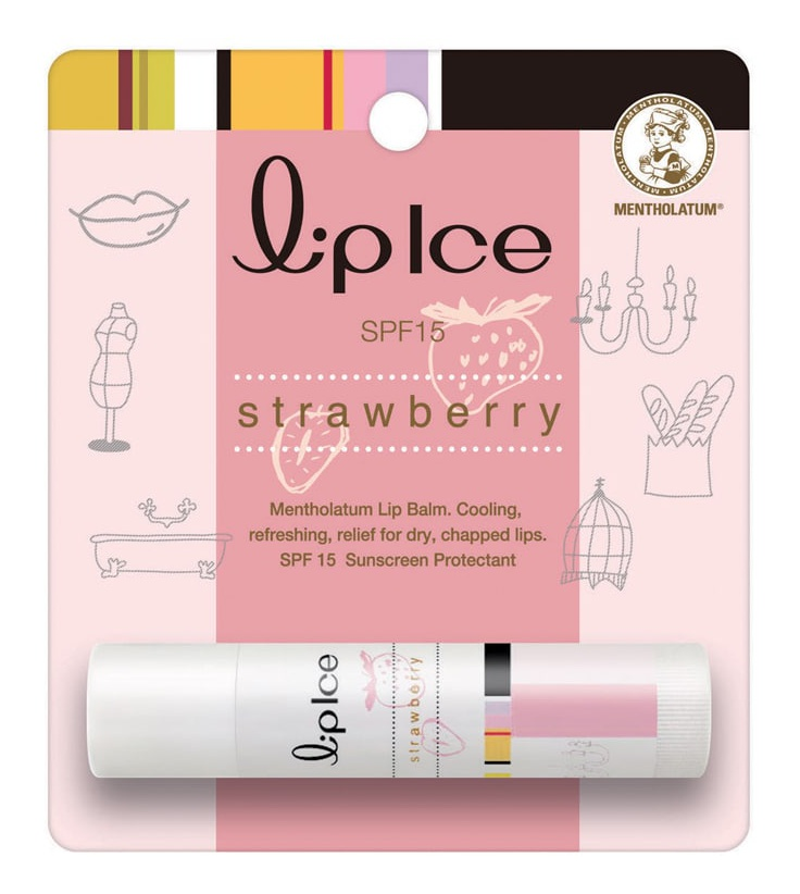 Mentholatum Lip Ice Strawberry Lip Balm Spf 15