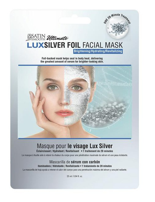 Satin Smooth Silver Foil Brightening Sheet Mask