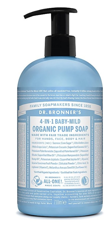 Dr Bronner Organic Pump Soap - Baby Unscented