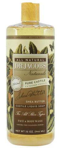 Dr. Jacobs Naturals Pure Castile Liquid Soap - Shea Butter (Organic Fair Trade)