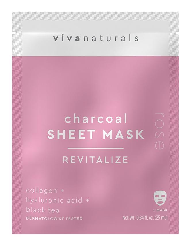 Vivanaturals Charcoal Sheet Mask Revitalize