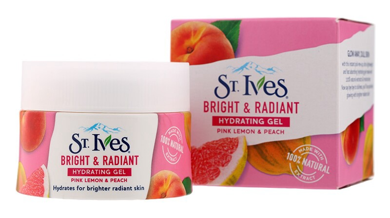 St Ives Bright And Radiant Hydrating Gel Pink Lemon And Peach