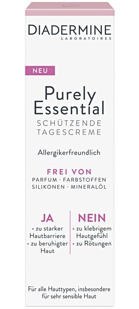 Diadermine Purely Essential Schützende Tagescreme