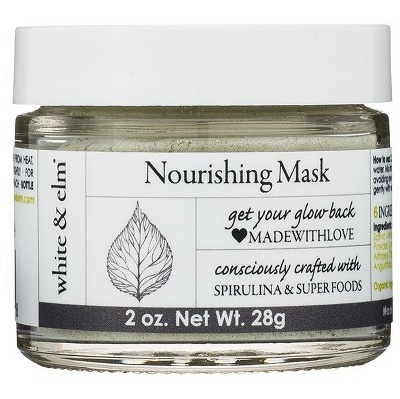 White & Elm Unscented Spirulina Green Superfood Nourishing Face Mask
