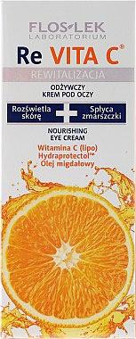 Floslek Revita C Eye Cream Cremă Pentru Ochi Cu Vitamina C Și Ulei De Migdale 40+