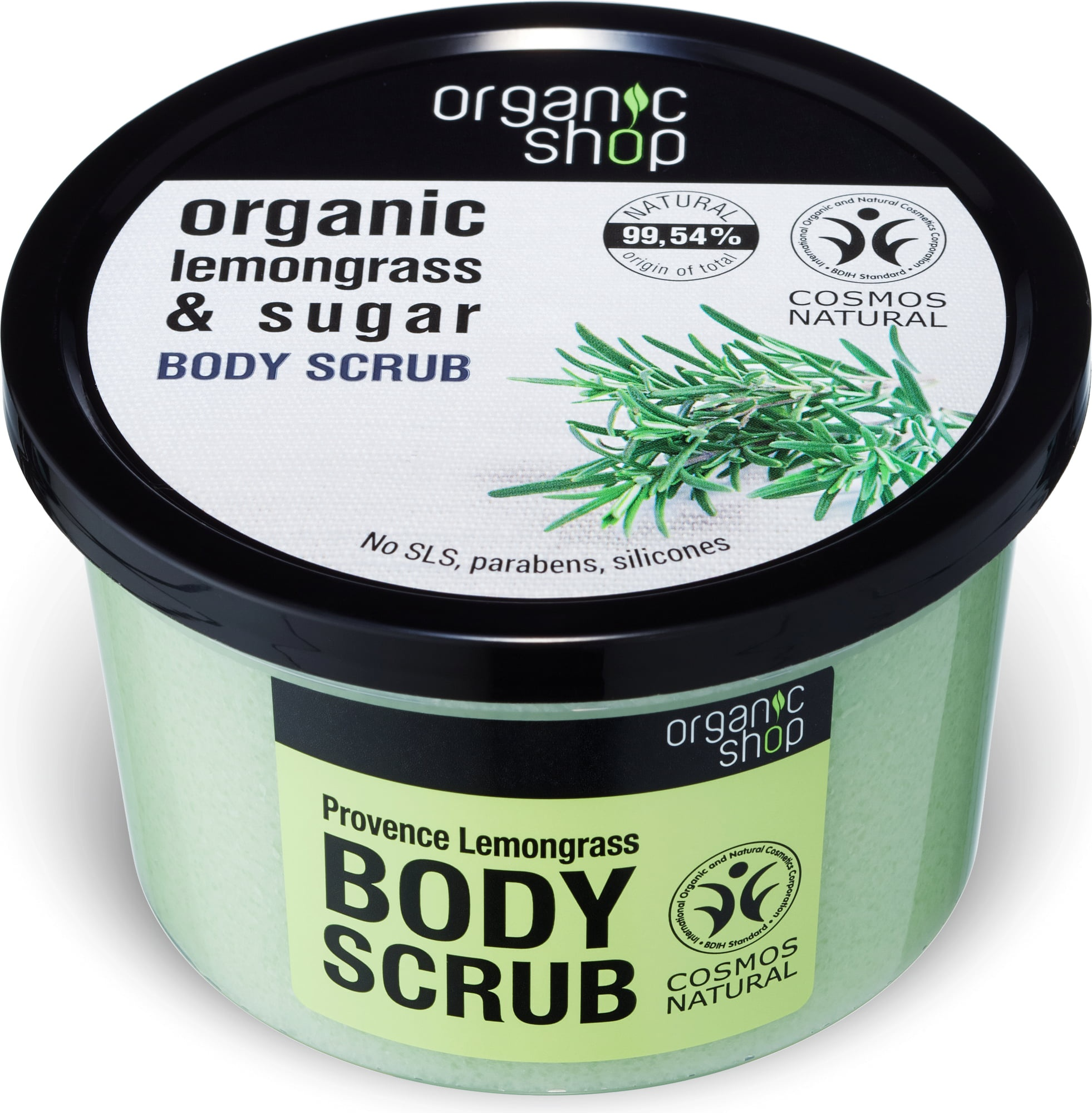 Organic Shop Lemongrass & Sugar Body Scrub
