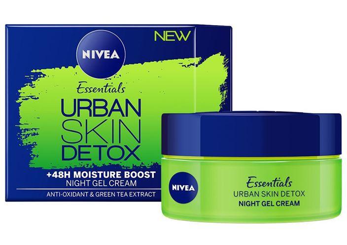 Nivea Essentials Urban Skin Detox Night Gel Cream