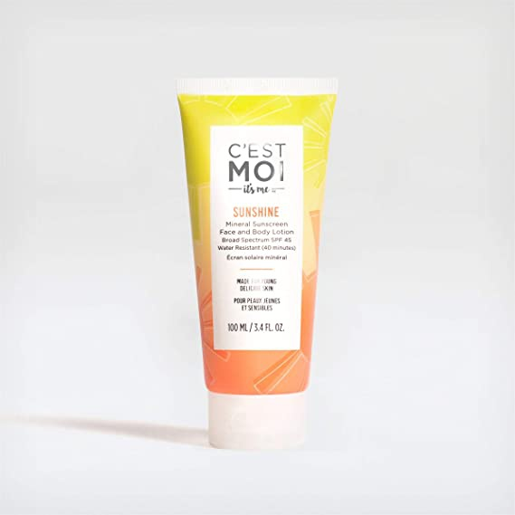 C'est Moi Sunshine Mineral Sunscreen Lotion Broad Spectrum Spf 45 Water Resistant