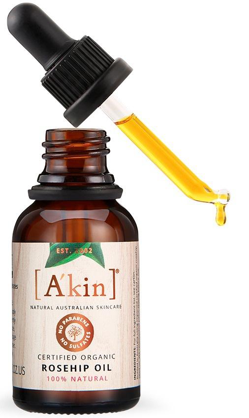 A'KIN Certified Organic Rosehip Oil 100% Natural
