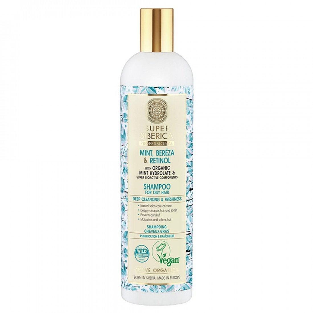 Natura Siberica Super Siberica Mint, Bereza & Retinol Shampoo