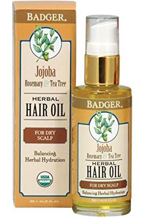 Badger Company Herbal Hair Oil For Dry Scalp