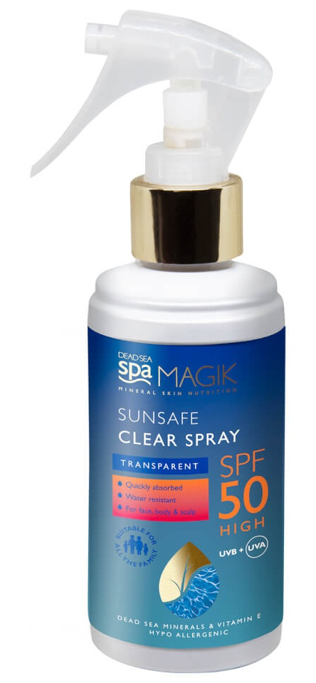 Dead Sea Spa Magik Sunsafe SPF50 Clear Spray