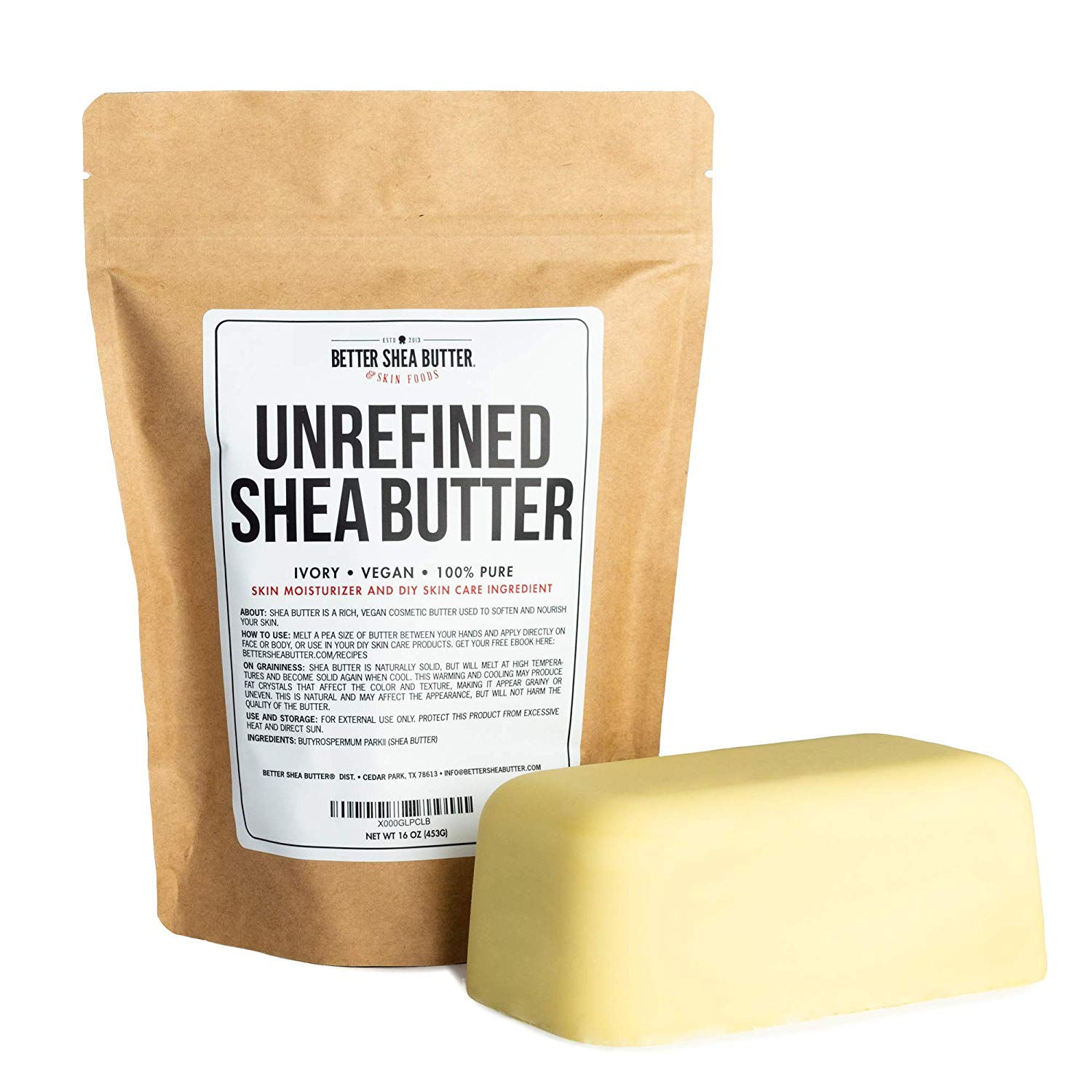 Better Shea Butter Unrefined African Shea Butter