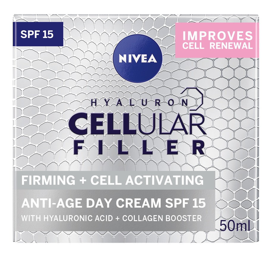 Nivea Hyaluron Cellular Filler Extra Firming And Cell Activating Anti-age Day Care SPF15