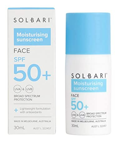 Solbari Moisturising Sunscreen Spf 50+