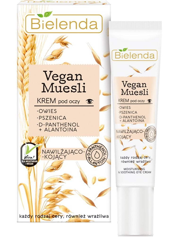 Bielenda Vegan Muesli   Oats + Wheat + D-Panthenol + Allantoin Soothing Eye Cream