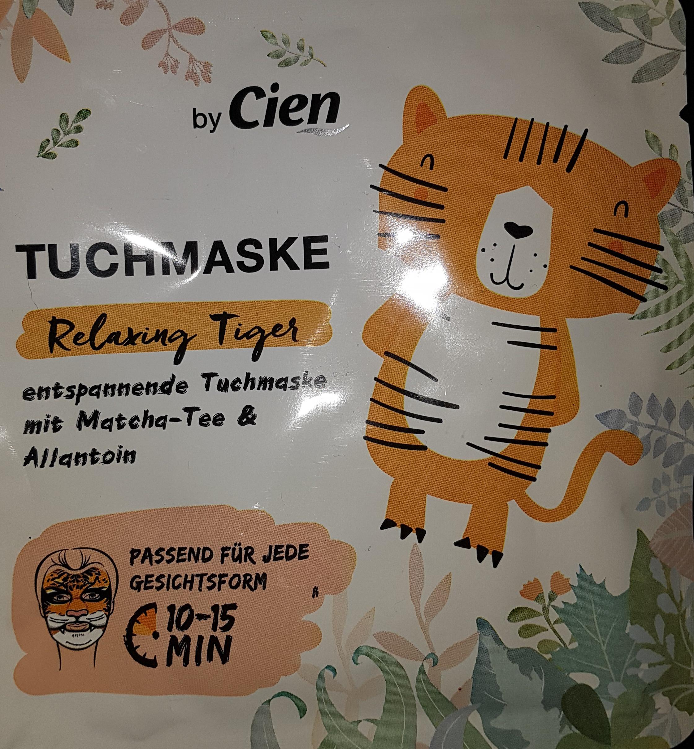 Cien Tuchmaske Relaxing Tiger