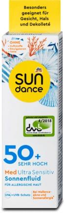 SUNdance Fluid Na Opaľovanie Med Ultra Sensitive Of 50
