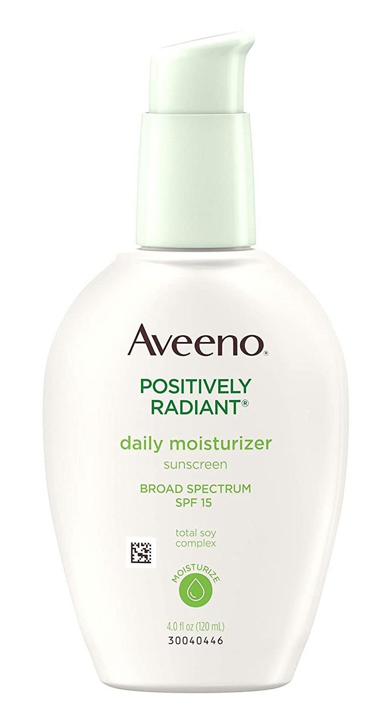 Aveeno Illuminating Daily Moisturizer Broad Spectrum Spf15 Sunscreen For Face