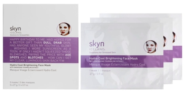 skyn ICELAND Hydro Cool Brightening Face Mask With Energinizing Tourmaline Extract
