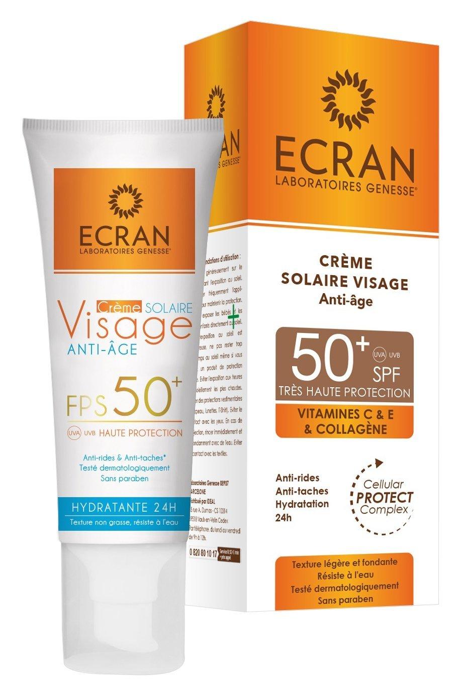 Ecran Ecran Crème Solaire Visage Pour Peau Sensible Spf 50+