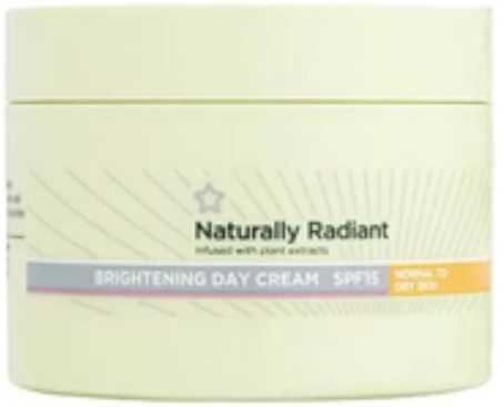 Superdrug Naturally Radiant Cream Normal/Dry Skin Spf 15